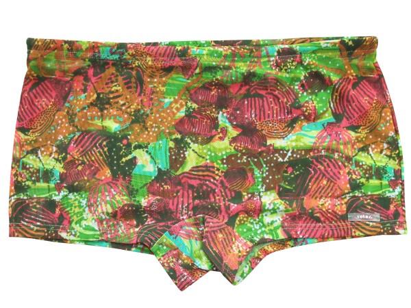 Badehose durchbäunend Shorty Gr. 5 Fische in rot/grün