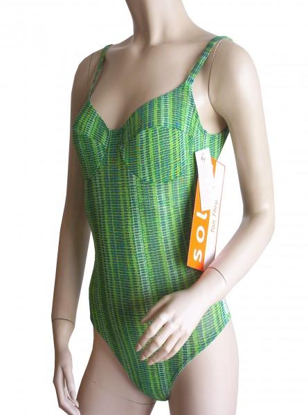 Bügel-Badeanzug durchbäunend Gr. 38 B-Cup grün