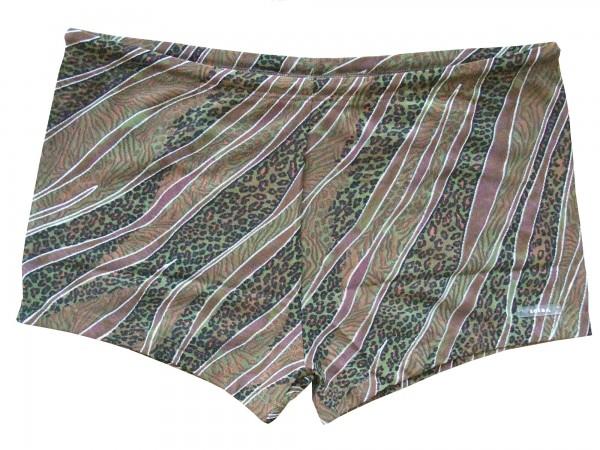 Badehose durchbäunend Panty Streifen in braun/grün