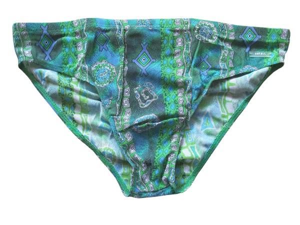 Badehose durchbäunend Slip Gr. 8 Azteken in grün