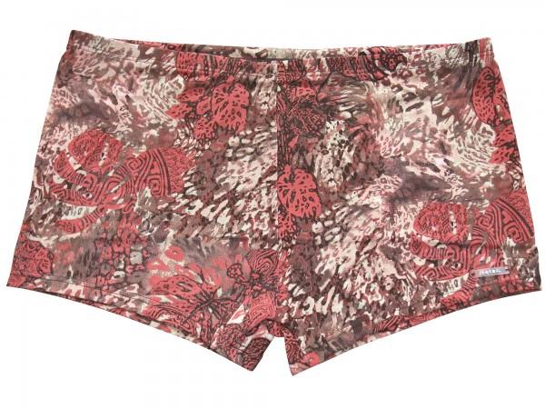 Badehose durchbäunend Panty Blätter in braun