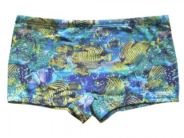 Badehose durchbäunend Shorty Gr. 5 Fische in blau/gelb