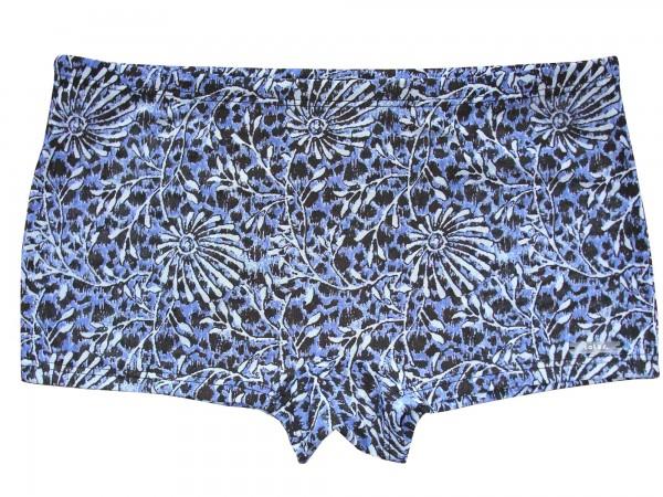 Badehose durchbäunend Shorty Blüten in blau