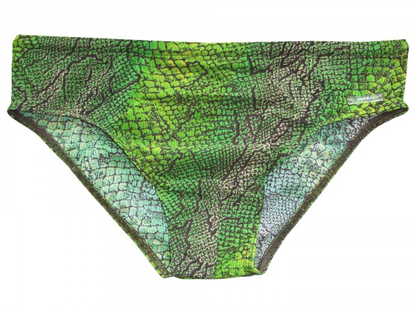 Badehose durchbäunend Slip Schlange in grün