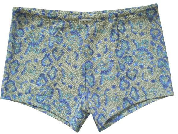 Badehose durchbäunend Panty Leoprint in khaki/blau