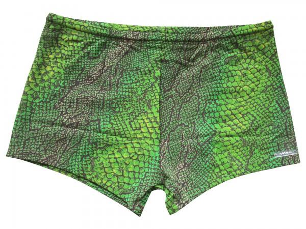 Badehose durchbäunend Panty Schlange in grün