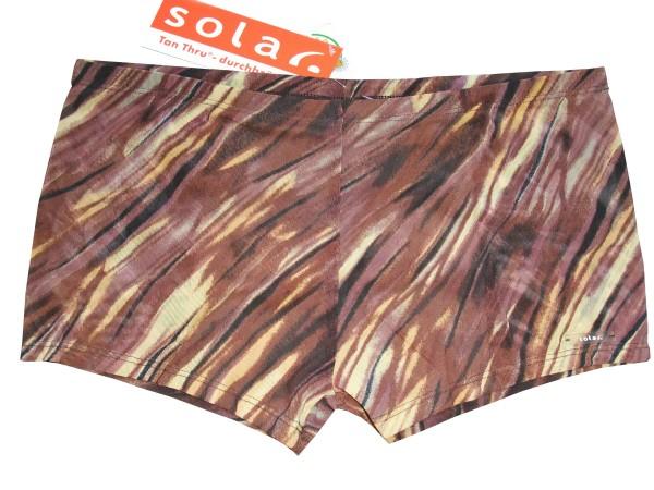 Badehose durchbäunend Panty Gr. 4 Streifen in braun/gelb