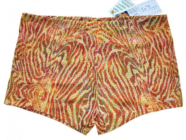Badehose durchbäunend Panty Streifen in gelb Gr. 7 (XL)