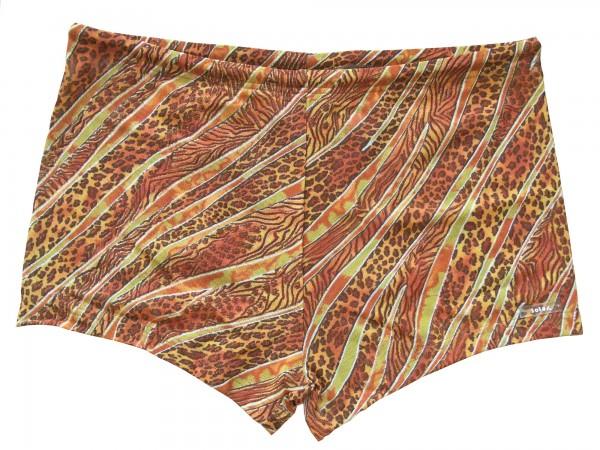Badehose durchbäunend Panty Gr. 6 Streifen in braun/gelb