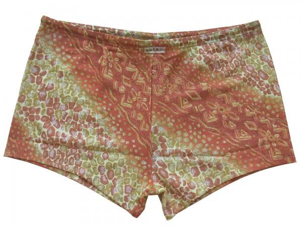 Badehose durchbäunend Panty Gr. 5 Bordüren in braun/gold