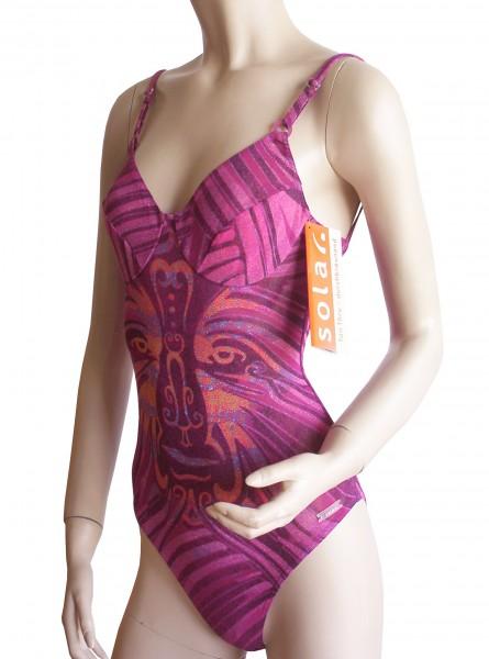 Bügel-Badeanzug durchbäunend B-Cup violett/orange