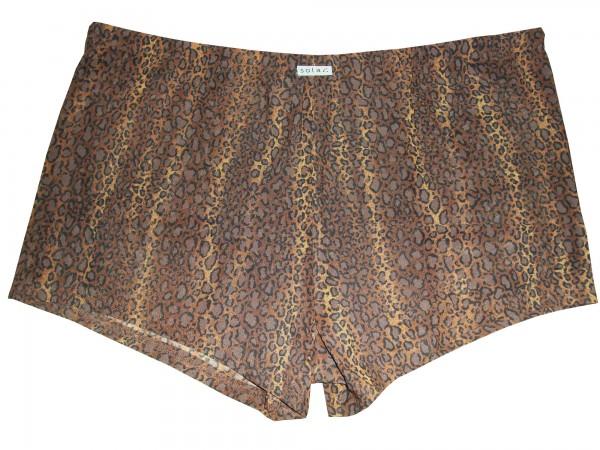 Badehose durchbäunend Panty Gr. 4 Leoprint in braun