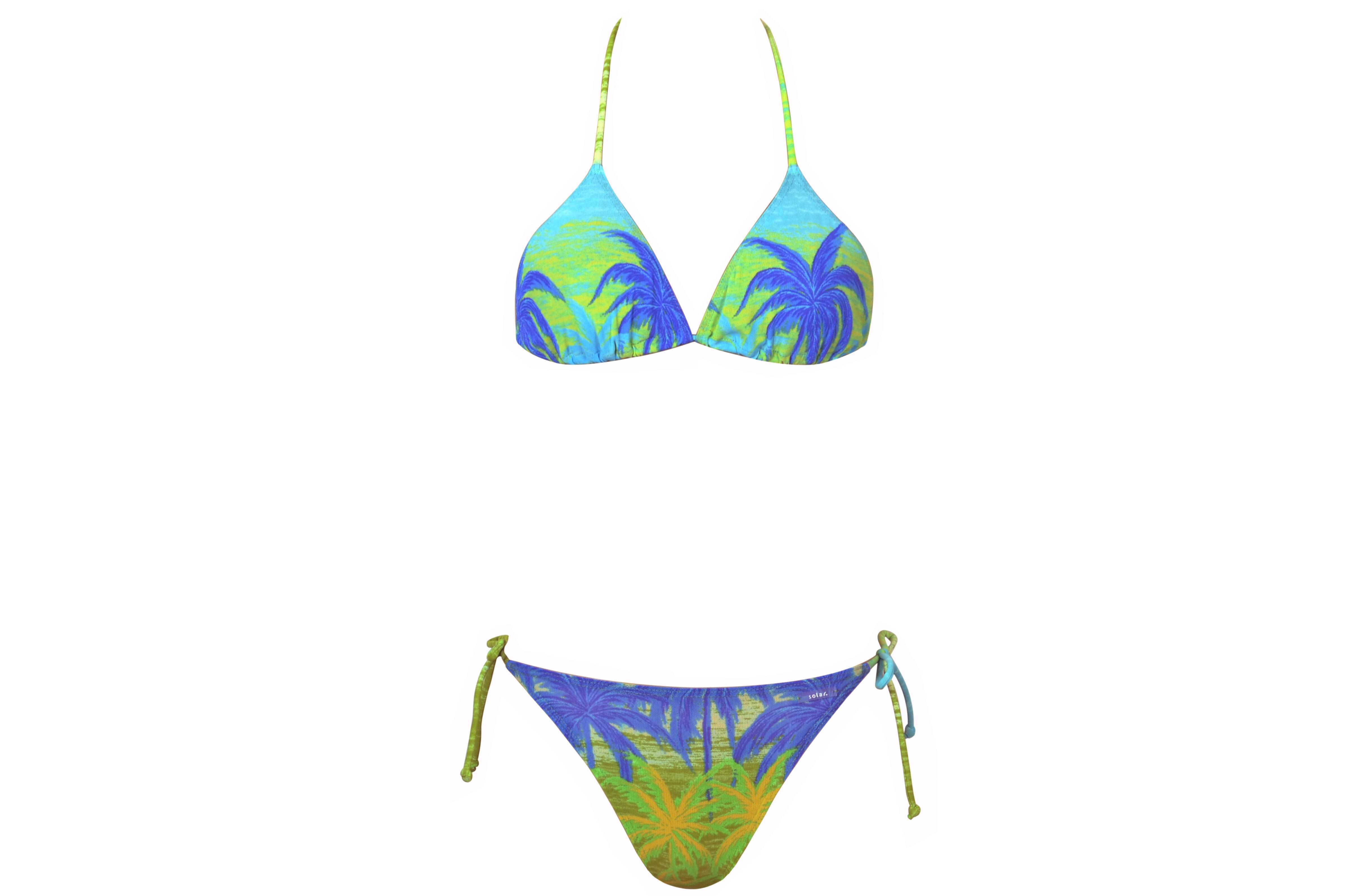 4aff53d8058a1f ... Vorschau: Neckholder-Bikini durchbäunend Gr. 36 C-Cup Palmen in grün ...