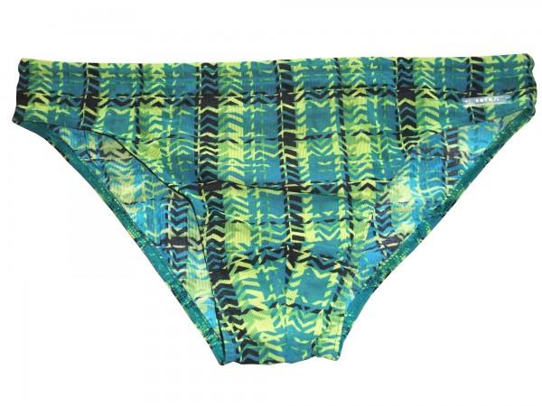 Badehose durchbäunend Slip Gr. 5 Häkchen in grün