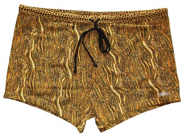 Badehose durchbäunend Panty Streifen in gelb