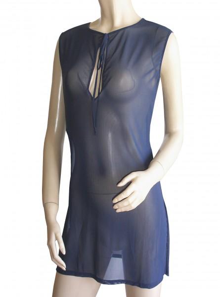 Ärmelloses Strand-Kleid, Tunika Solar dunkelblau uni